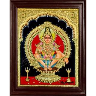 Ayyappa Swamy Tanjore Painting