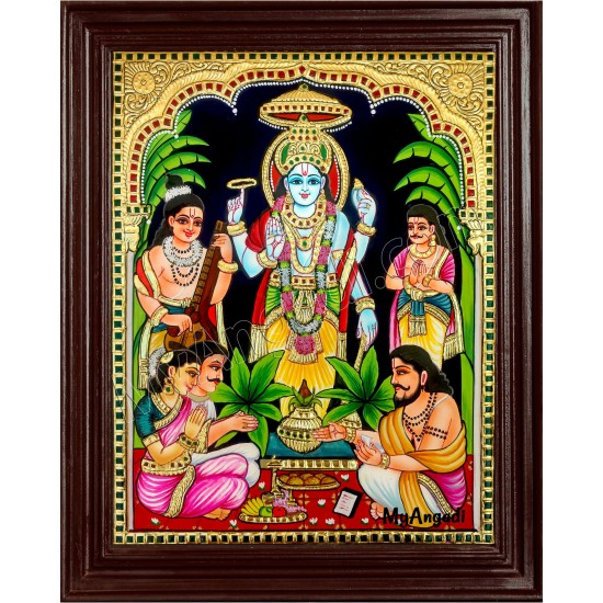 Satyanarayana Tanjore Painting