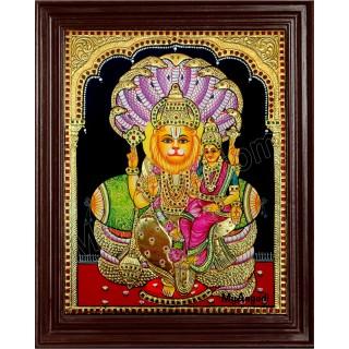 Lakshmi Narasimhar Tanjore Painting