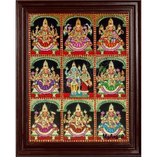 Ashtalakshmi Tanjore Paintings