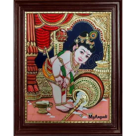 Butter Vennai Krishna Tanjore Painting