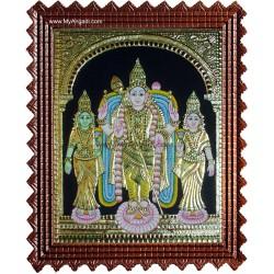 Valli Deivanai Murugan Tanjore Painting
