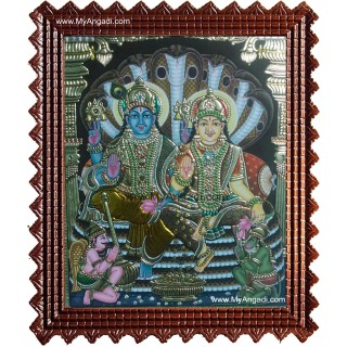 Vishnu Lakshmi Tanjore Paintings