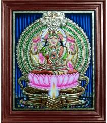 Lakshmi in Kamatchi Lamp Style