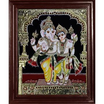 Ganesha and Murugan Tanjore Paintings