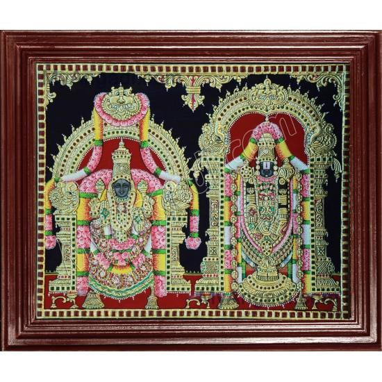 Balaji and Padmavathi Amman Tanjore Paintings