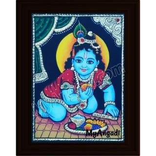 Krishna Small Tanjore Painting
