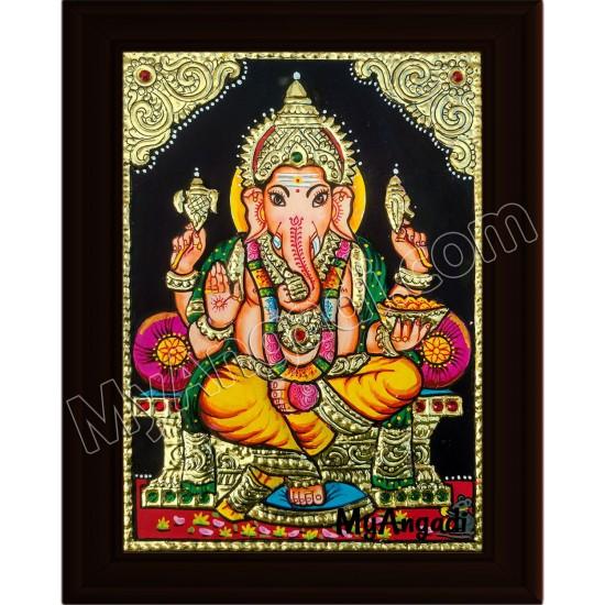 Ganesha Small Tanjore Painting
