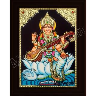 Saraswathi Small Tanjore Painting