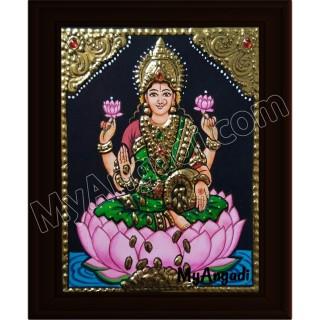 Dhana Lakshmi Small Tanjore Painting