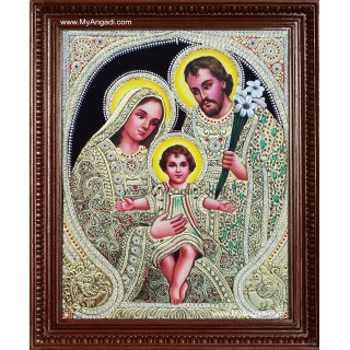 Jesus, Mary and Joseph Tanjore Paintings