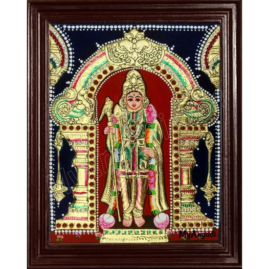 Raja Alangara Murugan Tanjore Painting