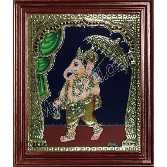Mapillai Ganesha Tanjore Paintings