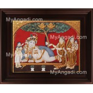 Antique Tree Krishna Tanjore Painting, Krishna Tanjore Painting