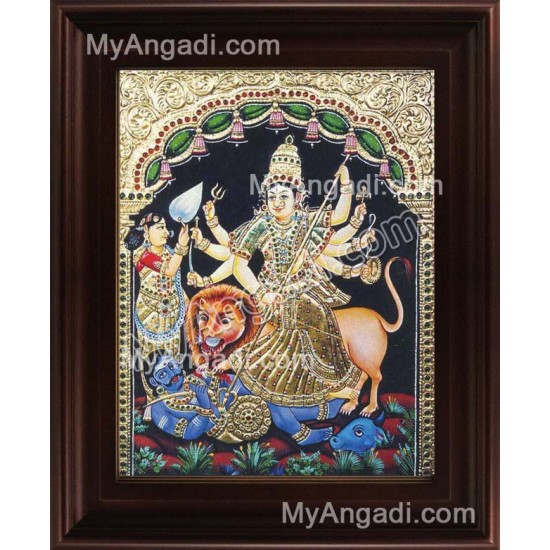 Durgai Tanjore Painting, Amman Tanjore Painting