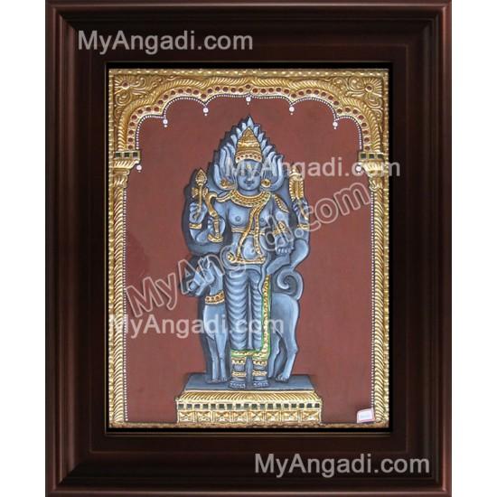 Kala Bairavar Tanjore Painting, Kalabairavar Tanjore Painting