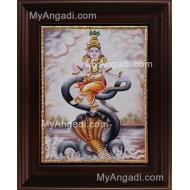 Kalinga Narthanam Krishna Tanjore Painting, Krishna Tanjore Painting