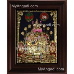 Kubera Lakshmi Tanjore Painting, Lakshmi Tanjore Painting