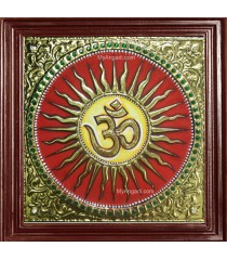 Om - Sun Tanjore Painting
