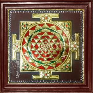 Sri Chakram Tanjore Painting