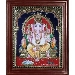 Ganesh Ji Tanjore Painting