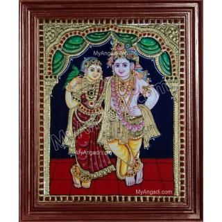 Radhe Krishna Tanjore Paintings