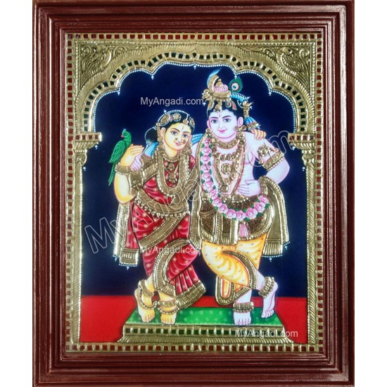 Radha Krishna Tanjore Paintings
