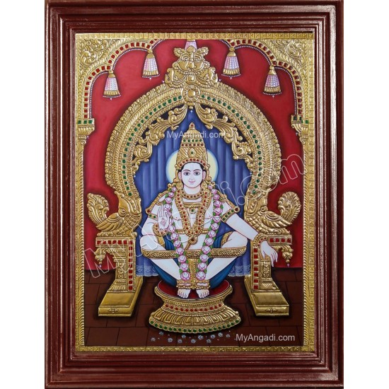 Iyyappa Swamy Tanjore Painting