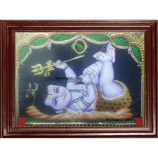 Baby Shiva Tanjore Painting