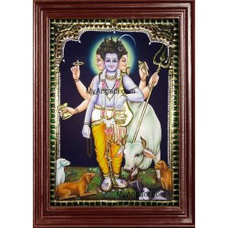 Dattatreya Tanjore Painting, Trinity Tanjore Painting