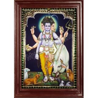 Dattatreya Tanjore Painting, Trinity Tanjore Painting