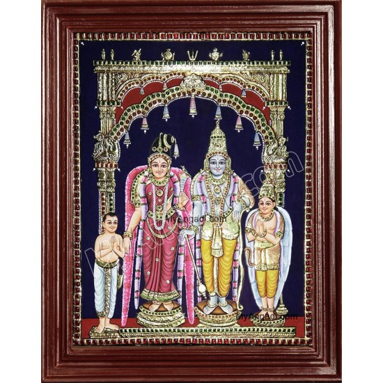 Andal Ranga Mannar Tanjore Painting