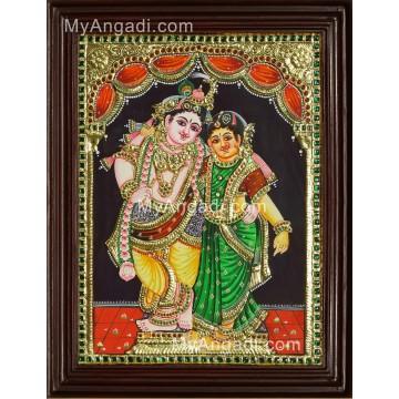 Rukmani Krishna Tanjore Painting
