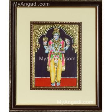 Lord Narayana Tanjore Painting