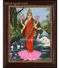 Lakshmi Ravivarma Tanjore Painting