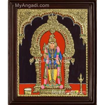 Raja Anangara Murugan Tanjore Painting