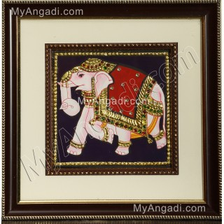Elephant Tanjore Painting