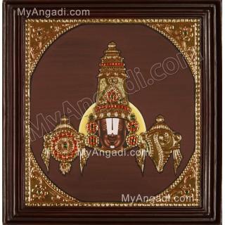 Face Venkateswaran Tanjore Painting