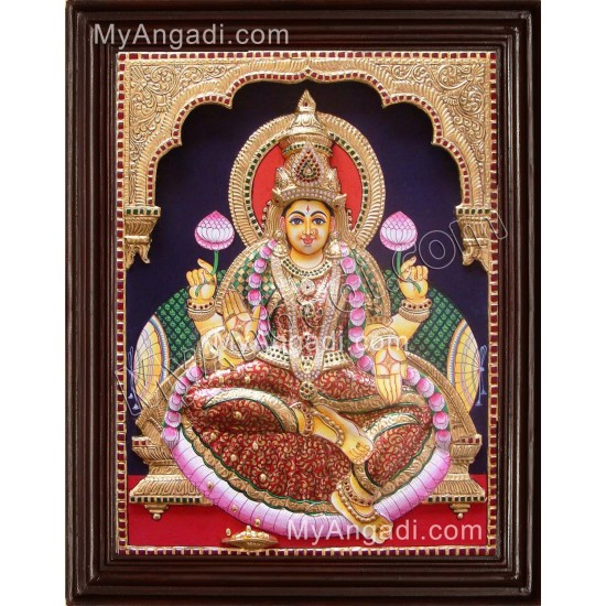 Iswarya Lakshmi Tanjore Painting