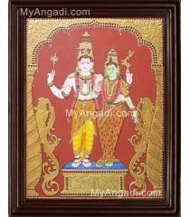 Shivan Parvathi devi Tanjore Painting