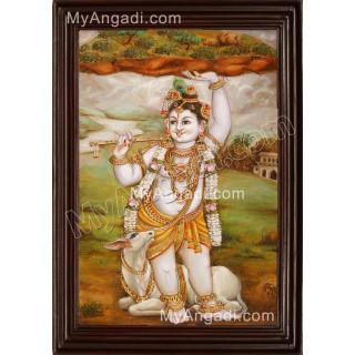 Govardhana Krishna Tanjore Painting