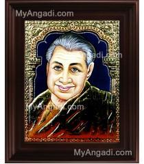 Pondichery Annai Tanjore Painting, Saint Tanjore Painting