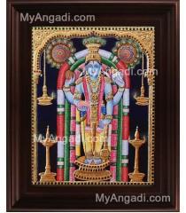 Guruvayurappan Tanjore Painting, Guruvayurappan Tanjore Painting