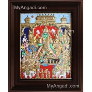 Ramar Pattabhishekam Tanjore Painting, Vishnu Thirumagal Tanjore Painting