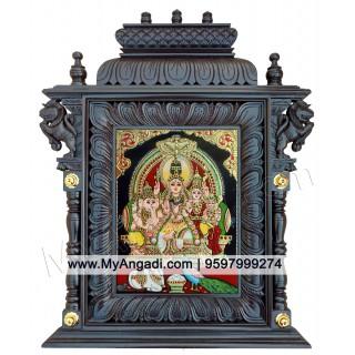 Shiva Family Shiva Kudumbam Tanjore Painting