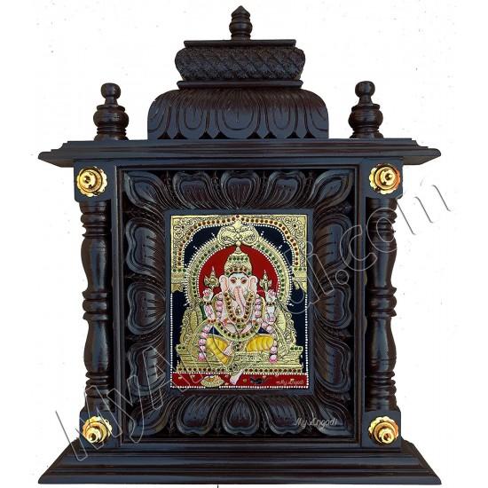Ganesha Tanjore Painting - Mantap Frame