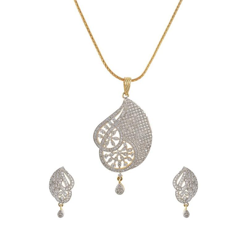 Earrings set 1 gram gold pendant earrings set 1 gram gold aloadofball Image collections