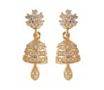 Jhumkka Earrings AD Stone 1 Gram Gold