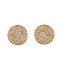 Earrings AD Stone 1 Gram Gold