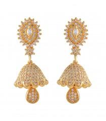 Jhumkka Earrings AD Stone 1 Gram Gold